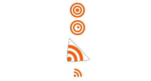 Dokončení ikonky RSS