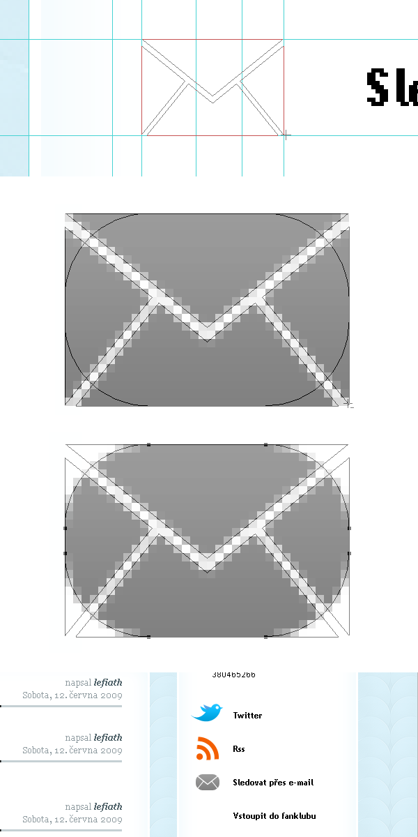 Dokončení ikonky e-mailu